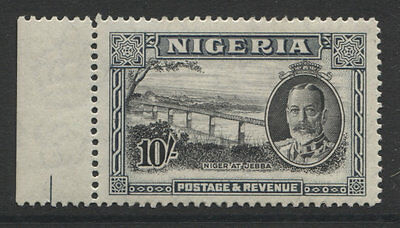 Nigeria - 1936 Gv 10/- Black & Grey Mint Sg.44  (Ref.d300)