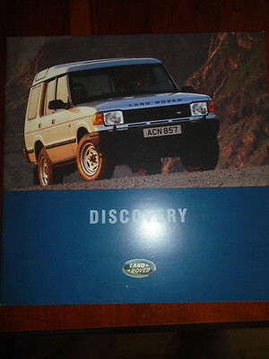 Land Rover Discovery range brochure 1995 ref LR 59/95