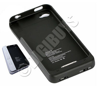 1900mAh Portable Power Backup External Battery Pack Case Charger iPhone 4 4S UK