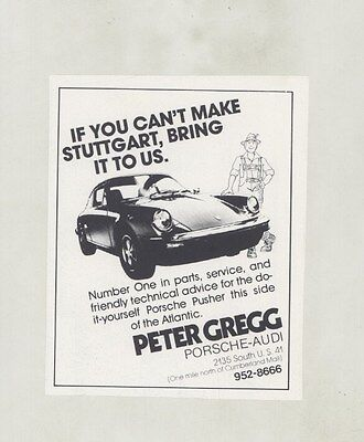 1979 Porsche 911 Peter Gregg Atlanta Georgia Dealer Magazine Ad ww5502
