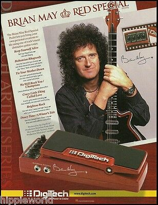 Queen Brian May Red Special Digitech Effects Pedal Artist Series 8 x 11 ad print