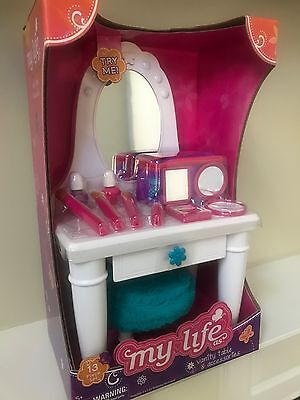 """My Life As Vanity Table & Accessories - Fit 18"""" Doll Or American Girl"""