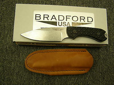 Bradford 3S-001 Black G10 Handle Guardian3 Sabre Grind M390 Fixed Blade Knife.