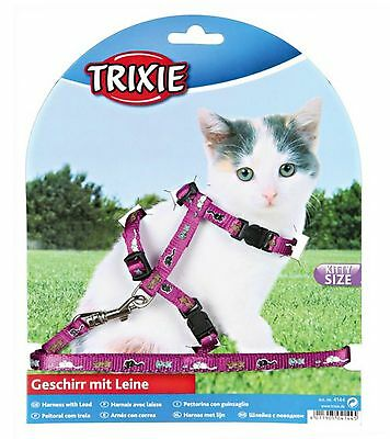 Trixie Purple Lilac Kitten Small Cat Harness And Lead Set 4144