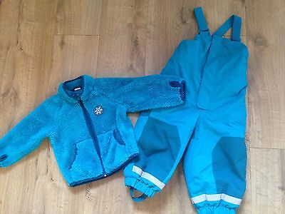 H&M Blue Snow Suit Skiing Warm Suit And Fleece Boys 1.5-2 Years