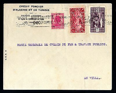 13817-LEBANON-OLD BANK COVER BEYROUTH.1941.WWII.RAILWAYS.Liban.enveloppe.LIBANO