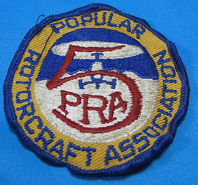 Vintage Popular Rotorcraft 5 PRA Member Helicopter Rotor Embroidered Cloth Patch