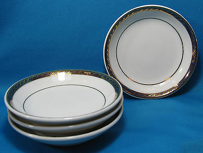 Vtg Delta Airlines First Class Nut Sauce 4 Small Serving Plate Dinnerware Abco