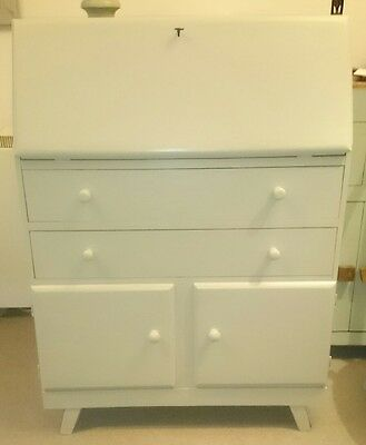 Hand Painted Vintage Bureau (Painted In Bone By Farrow & Ball)