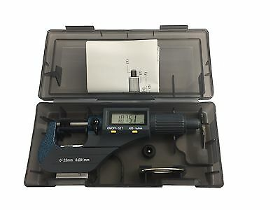 "Rdgtools 0-25Mm 0-1"" Digital Micrometer Metric Imperial Measuring Tools"
