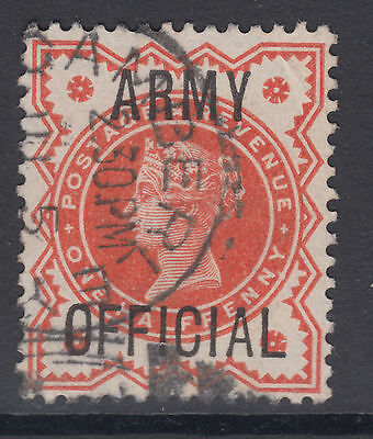 QV SG O41 1/2d vermillion ARMY OFFICIAL; see both scans
