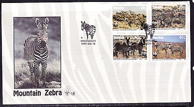 Namibia 1992 Mountain Zebra  First Day Cover - Unaddressed