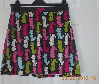 Gorgeous Girls Skirt 13-14 years Poodle Dog Soft cord