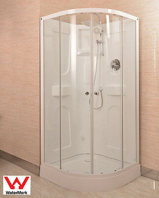 """Shower Cubicle With Acrylic Back Wall 900X900X2000Mm Semi Circular """"new"""""""