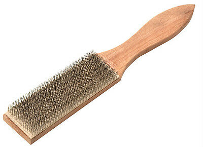 "LESSMANN STEEL FILE CARD CLEANING WIRE BRUSH - LESSMAN 250mm (10"") Hand Brushes"