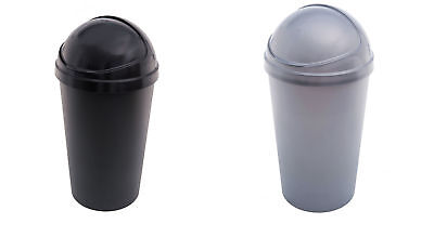 HOME Curver 50L Bullet Bin - Choice of Black / Silver - From Argos