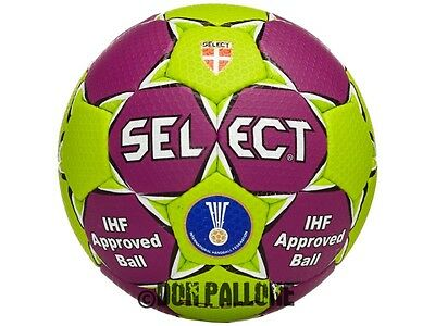 Select Solera Handball Training Wettspiel Ball IHF Approved grün/lila Gr.1 - 3