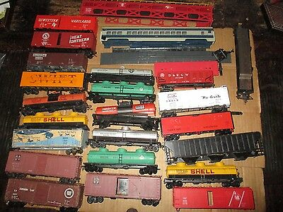 Mixed Lot Of Ho Scale Freight & Passenger Car Parts For Salvage & Restoration