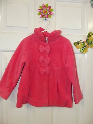 Girls  Salmon Pink Fleecy Coat In Size 2 - 3 Years