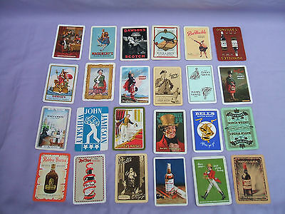 24 Different Old Scotch Whisky Advertising Single Playing Cards