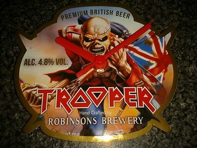 IRON MAIDEN TROOPER ALE Robinsons Brewery Pump Clip Clock