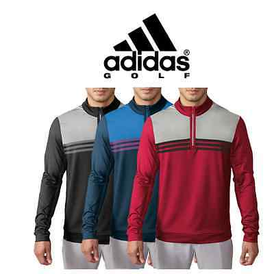 "Adidas Golf Climacool Colourblock 1/4 Zip Layer Sweater Chillout Top ""New 2017"""