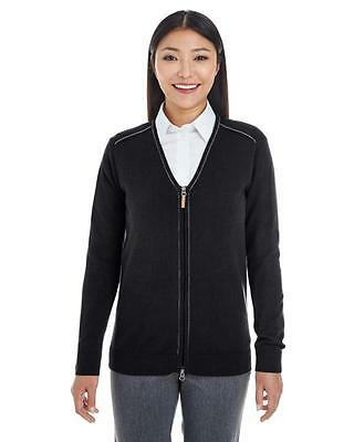 Ladies Manchester Fully Fashioned Full Zip Sweater-DG478W
