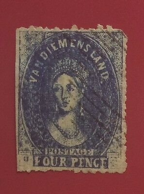 £££ Tasmania - Réimpression / reprint stamp - type Fournier / Spiro - 1