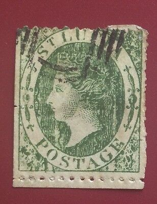 £££ Sainte Lucie - Réimpression / reprint stamp - type Fournier / Spiro - 1
