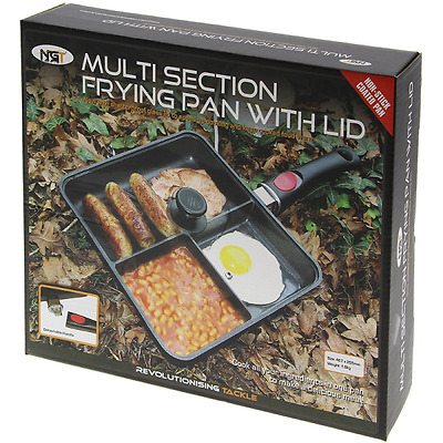 NGT Multi Section Frying Pan Carp Fishing Tackle Camping non-stick + LID
