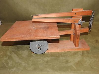 wood homemade scroll saw belt driven no motor very unique