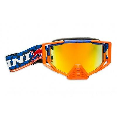 Kini Red Bull Competition Crossbrille navy orange Motocross Brille verspiegelt