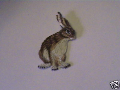 100% Embroidered Rabbit Collectable Wildlife Patch
