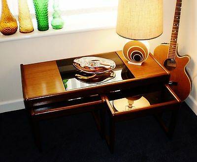 Superb Retro Teak Wooden Coffee Table - Nest Of Tables
