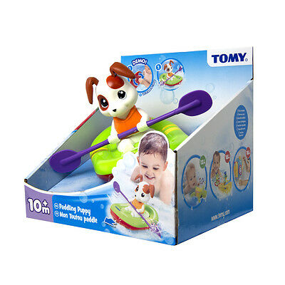 E72424 TOMY Paddling Puppy Wind Up Bath Toy Baby Infant Toddler Age 12 Months+