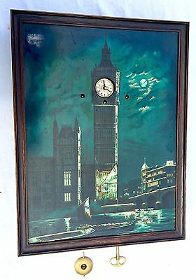 Mother Of Pearl Musical Big Ben Wall Clock Antique