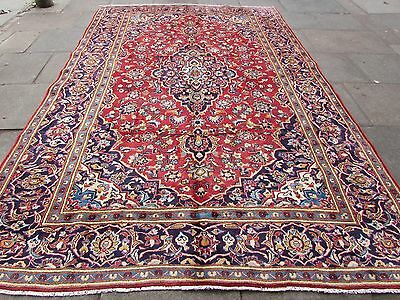 Old Traditional Hand Made 12x8 Persian Oriental Wool Red Large Carpet 368x240cm