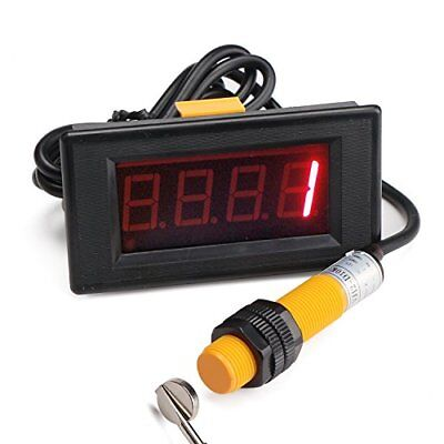 """DROK 0.56""""Red LED Display Digital Tally Counter 0-9999 Up Down Counter Totalizer"""