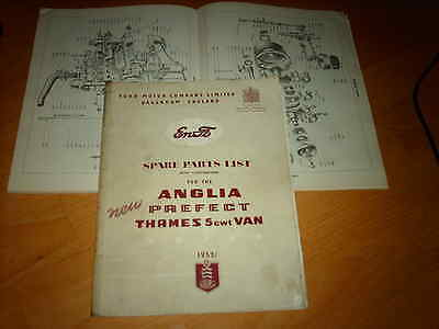 Ford Parts catalogue Anglia Prefect Thames Van 1953 on Illustrated