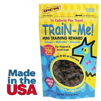 Dog Training Mini Treat Pack Chicken Flavor Rewards Puppies Small Breed Dogs 4oz