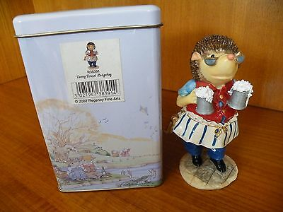 Regency Fine Arts - Tales of Honeysuckle Hill - Tommy Hedgehog R38391,New in Tin