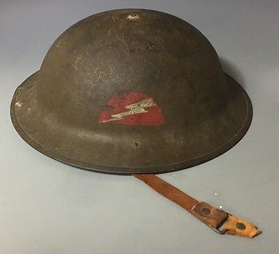 Antique WWI WW1 US ARMY M17 BRODIE HELMET 78TH LIGHTNING DIVISION DOUGHBOY
