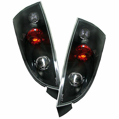 Ford Focus Mk1 Hatchback 1998-2004 Black Lexus Rear Tail Lights Lamps Pair