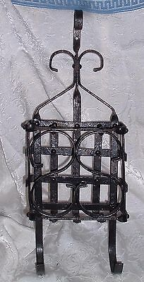 Antique Rod Iron Outdoor Wall Mount mail Box , Open Rack Type , Unique