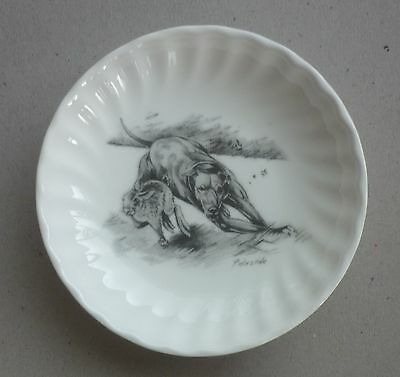 """Working Lurcher Greyhound Dog Fine China Dish 4.4"""" By Paddock House Collection"""