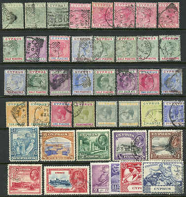 Cyprus useful lot of early issues cv$140.00 Mostly used, the odd mint.