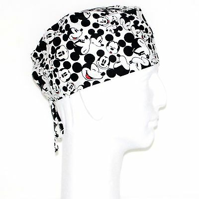 Disney Mickey Mouse Face all Over Theme Scrub Hat