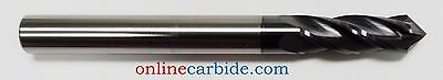 "3/8"" 4 FLUTE 90 DEGREE CARBIDE DRILL MILL - TiALN COATED"