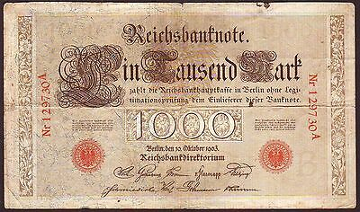 Germany  1000 Mark  1903  Series A