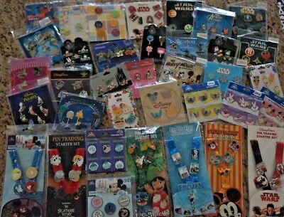 New Authentic Disney Trading Pin Set Booster Mixed Lot 5 Sets Random Assortment